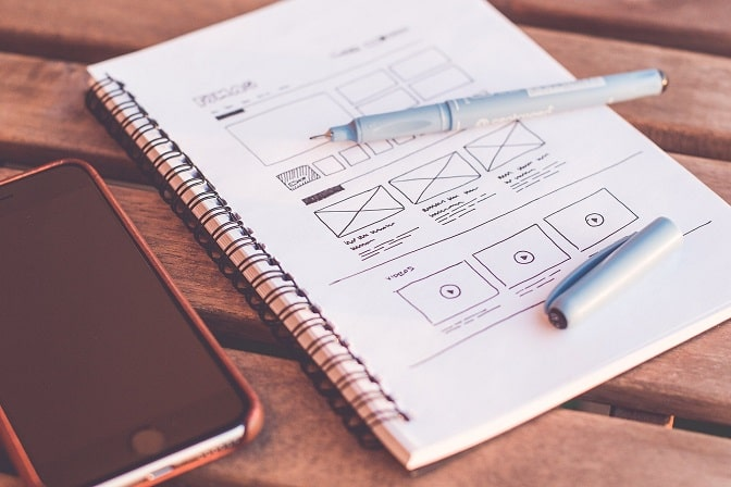 website struktur planen elemente